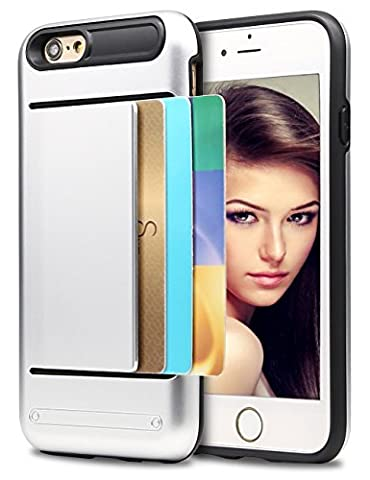 iPhone 5S Case, Asstar Wallet case Card Slot [Anti Scratch] Dual Layer Shockproof [Soft TPU] & Hybrid Hard PC Back Cover Armor for Apple iPhone SE 5S 5 (Cheap Iphone 5 Speck Cases)