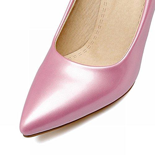 Mee Shoes Damen Stiletto Lackleder Geschlossen Pumps Pink