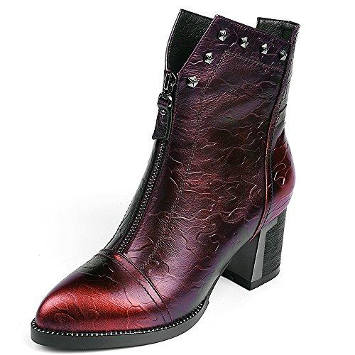 Nine SevenAnkle-boots - Botas mujer granate