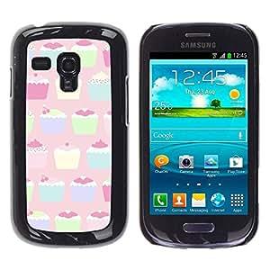TopCaseStore / la caja del caucho duro de la cubierta de protección de la piel - Pastel Paining Colorful - Samsung Galaxy S3 MINI NOT REGULAR! I8190 I8190N