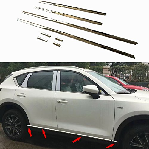 Frame Body Cover Side (Beautost Fit For Mazda 2017 2018 CX-5 CX5 Body Side Door Moulding Overlay Cover Trims Stainless Steel -8PCS)