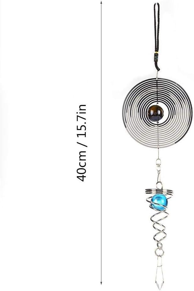 A Taichi Shape Carillones de Viento Elegante Ventana Giratoria Colgante Decoraci/ón Campana de Viento Ornamento Casero Patio Tienda de la Ventana Decoraci/ón de la Oficina Amigos Amante Regalo
