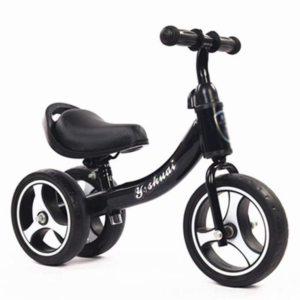 Double Roue Noire 1-3 Ans  LL-  voiture Vélos d'équilibre pour Enfants - Vélo d'équilibre léger pour Les Tout-Petits et Les Enfants - 1.5-7 Ans