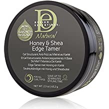 Design Essentials Natural Honey & Shea Edge Tamer with Almond & Avocado Oils for Luminous Shine and Firm Hold- 2.3oz