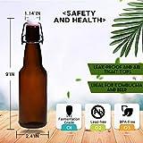 YEBODA 12 oz Amber Glass Beer Bottles for Home