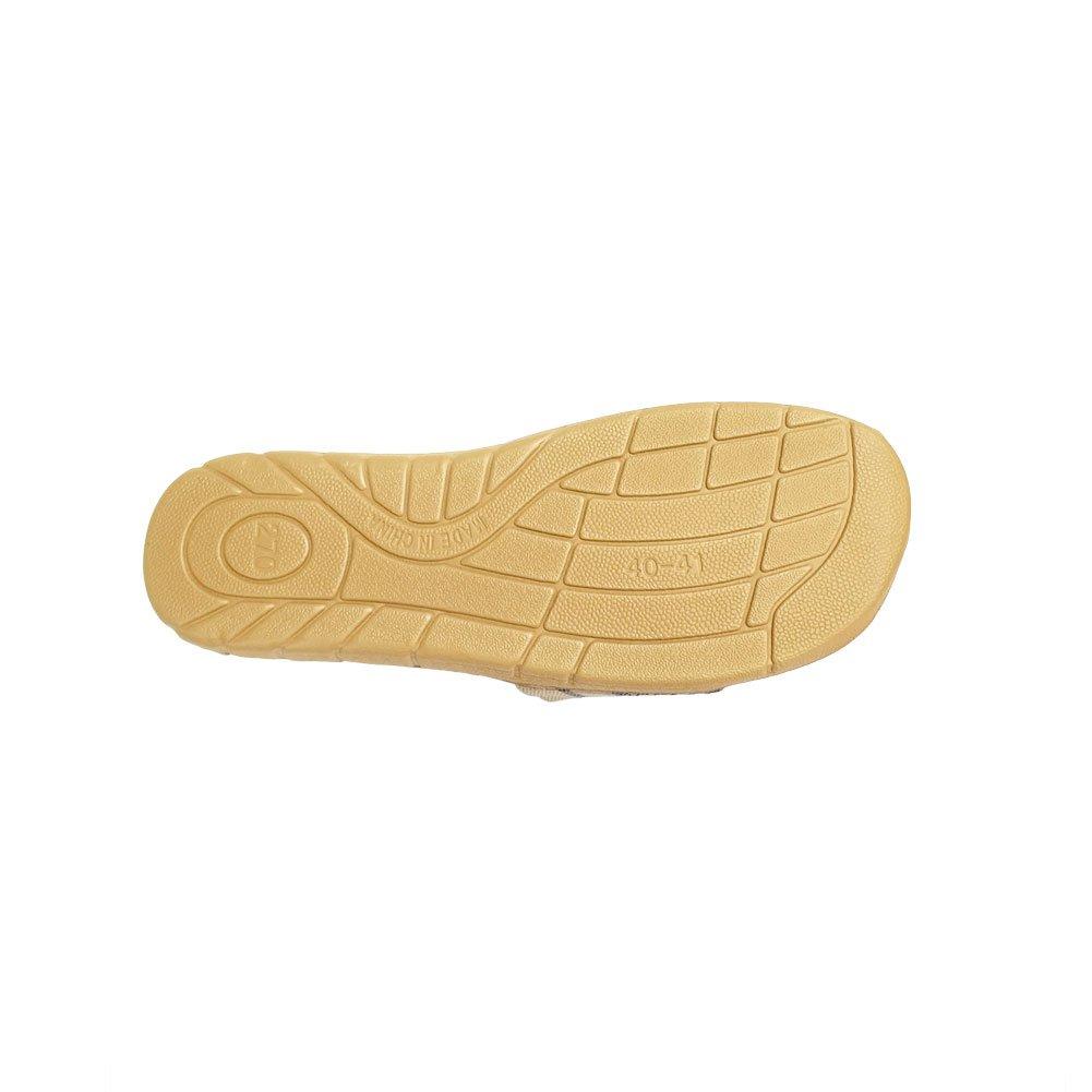 HRFEER Home Slippers Women Linen Indoor Shoes Men Beach Slipper Silent Flip Flops for Women Sandals by HRFEER (Image #6)