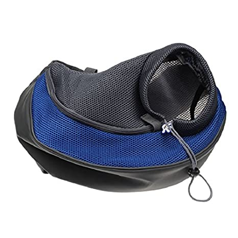 L, Blue Changeshopping Pet Dog Cat Puppy Carrier Mesh Travel Tote Shoulder Bag Backpack
