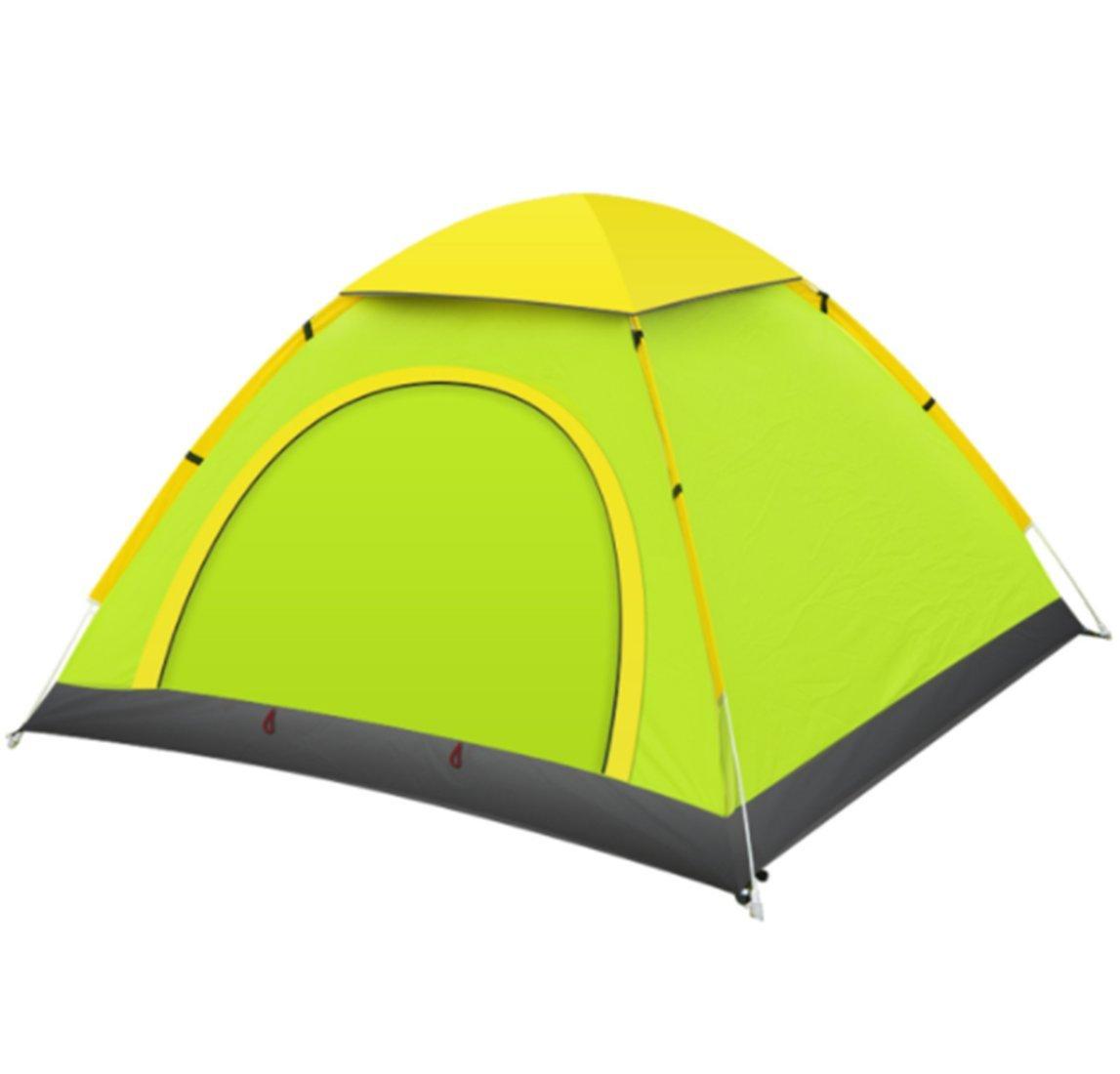 Yeying123 Zelt 2 Sekunden Automatisch Zu Öffnen 2-3 Personen Im Freien Camping Tourismus Doppeltür Zelt,Grün,2People