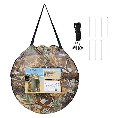 Maple Leaves Camouflage Outdoor Moving Shower Toilet Tent Privacy Changing Bath Shelter Fitting Room Waterproof Pop Up 180T Tent with Bag Camouflage