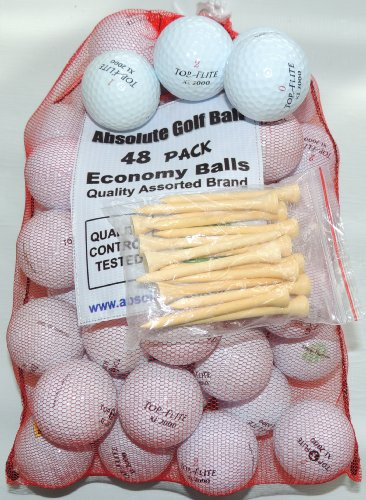 300 AAA Top-Flite Mix Recycled Golf Balls 25 Dozen