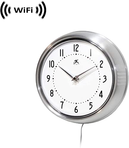 1080p IMX323 Sony Chip Super Low Light Wireless Spy Camera with WiFi Digital IP Signal, Recording Remote Internet Access Camera Hidden in a Wall Clock Silver