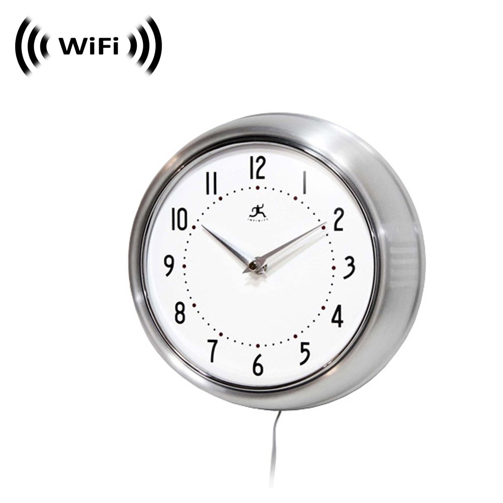 1080p IMX323 Sony Chip Super Low Light Wireless Spy Camera with WiFi Digital IP Signal, Recording Sorry, No P2P Camera Hidden in a Wall Clock Silver