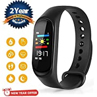 Lambent M3 Smart Fitness Band Activity Tracker with Heart Rate Sensor Compatible for All Androids and iOS Phone/Tablet