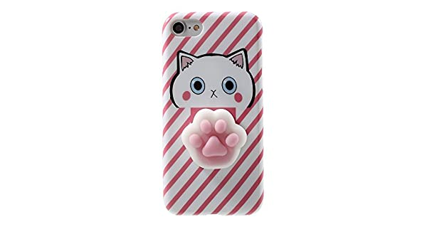 fb3211b017 iphone 4/4S Case,3D Poke Squishy Cat Seal Panda Polar Bear Squeeze Stretch  Compress Stress Reduce Relax Soft Silicone Relief Case for Apple iphone  4/4S (Paw ...