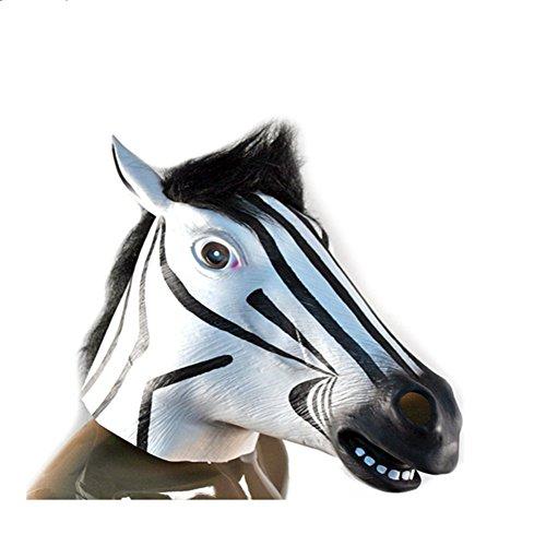 [NonEcho Halloween Masks for Men Latex Horse Face Mask] (Dirty Santa Costumes)