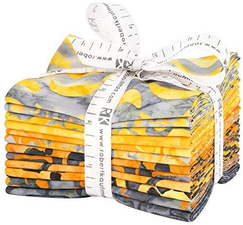- Robert Kaufman Fabrics Artisan Batiks Helsinki Gold 12 Fat Quarter Bundle by Lunn Studios for Robert Kaufman, Assorted