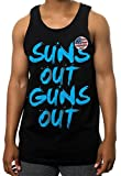 Suns Out Guns Out Tank Top Gym Workout Muscle Sleeveless T Shirt Urban Wear (5X - 5XL - XXXXXL Mens)