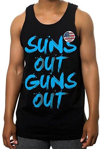 Suns Out Guns Out Tank Top Gym Workout Muscle Sleeveless T Shirt Urban Wear (5X - 5XL - XXXXXL (Skat Shirt)