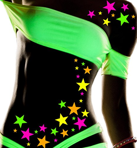 Sasswear Blacklight Body Stickers - Neon, 40/pk