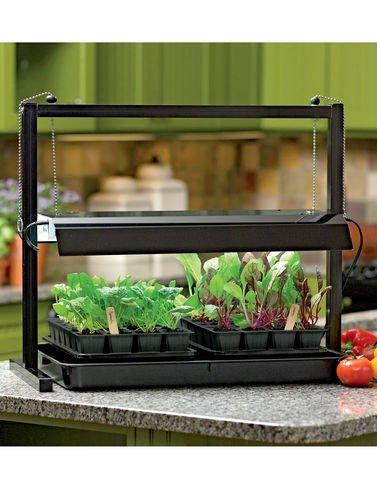 Compact KitchenTabletop Grow Light, SunLite174 Indoor Light Garden 2 T5 Bulb by Gardener's Supply Company