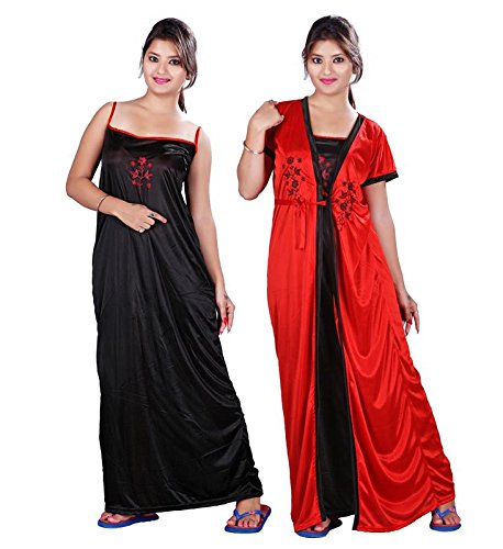 6991835dce9 TRUNDZ Women s Cotton Satin Full Length Nighty (Nighty 790