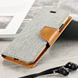 First 4 Covers For Asus Zenfone 5 Flip Cover Dairy Wallet Case (Canvas Series) (Grey)