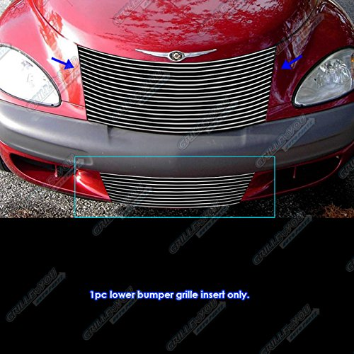 (APS R86573A Polished Aluminum Billet Grille Replacement for select Chrysler PT Cruiser Models)
