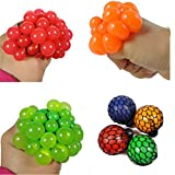May Lucky 12 PCS/LOT Squeeze Grape Ball Relieve Pressure Ball 5cm Mesh Squishy Ball