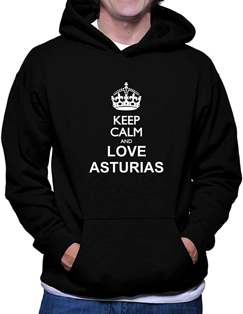 Teeburon Keep Calm and Love Asturias Hoodie