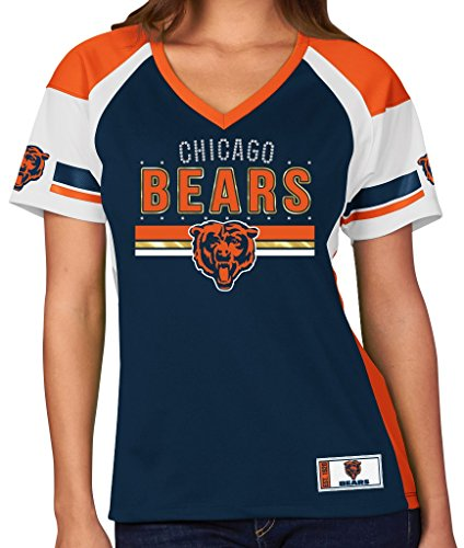 (Majestic Chicago Bears Women's NFL Draft Me Jersey Top Shirt -)
