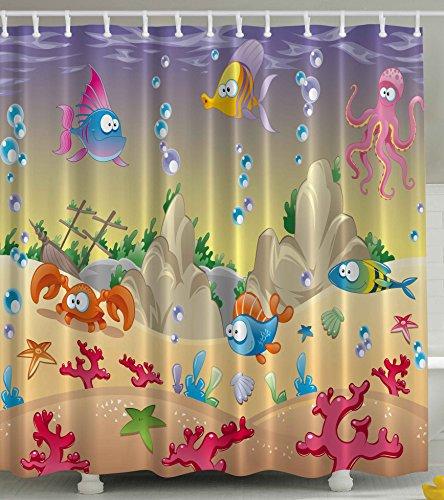 Curtain Ambesonne Nautical Tropical Underwater