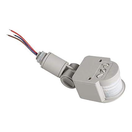 Detector de movimiento PIR infrarrojo de 180 grados para exteriores, 90~250 V,