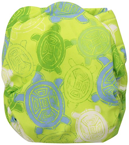 Bumkins Cloth Diaper Velcro All-in-One (AIO) or Pocket, 7-28lbs, Green Turtle