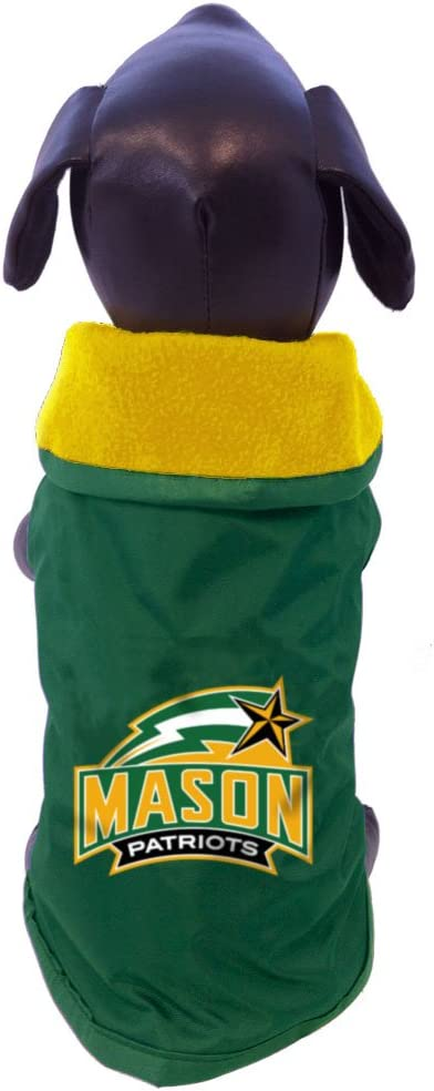 Tiny NCAA George Mason Patriots All Weather-Resistant Protective Dog Outerwear