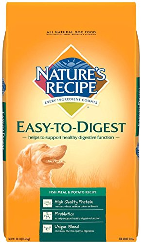 Nature's Recipe Easy to Digest Fish Meal & Potato Recipe Dry Dog Food, 30-Pound