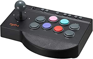 PXN 0082 USB Arcade Fight Stick, PC Street Fighter Arcade Game Fighting Joystick Controller for PS3, PS4, Xbox One, Switch, Window PC