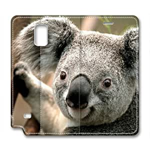 Armener Leather Protective Skin Case Cover for Samsung Galaxy Note 4 With Koala-1