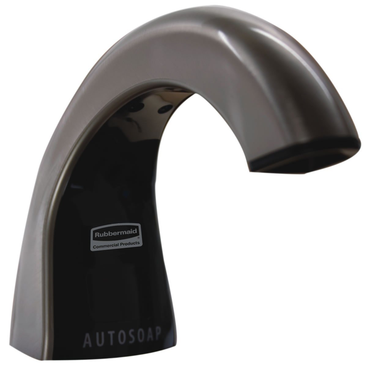 Rubbermaid Commercial Products FG401528 One-Shot Touch-Free Automatic Liquid Soap Dispenser, Brushed Chrome/Black