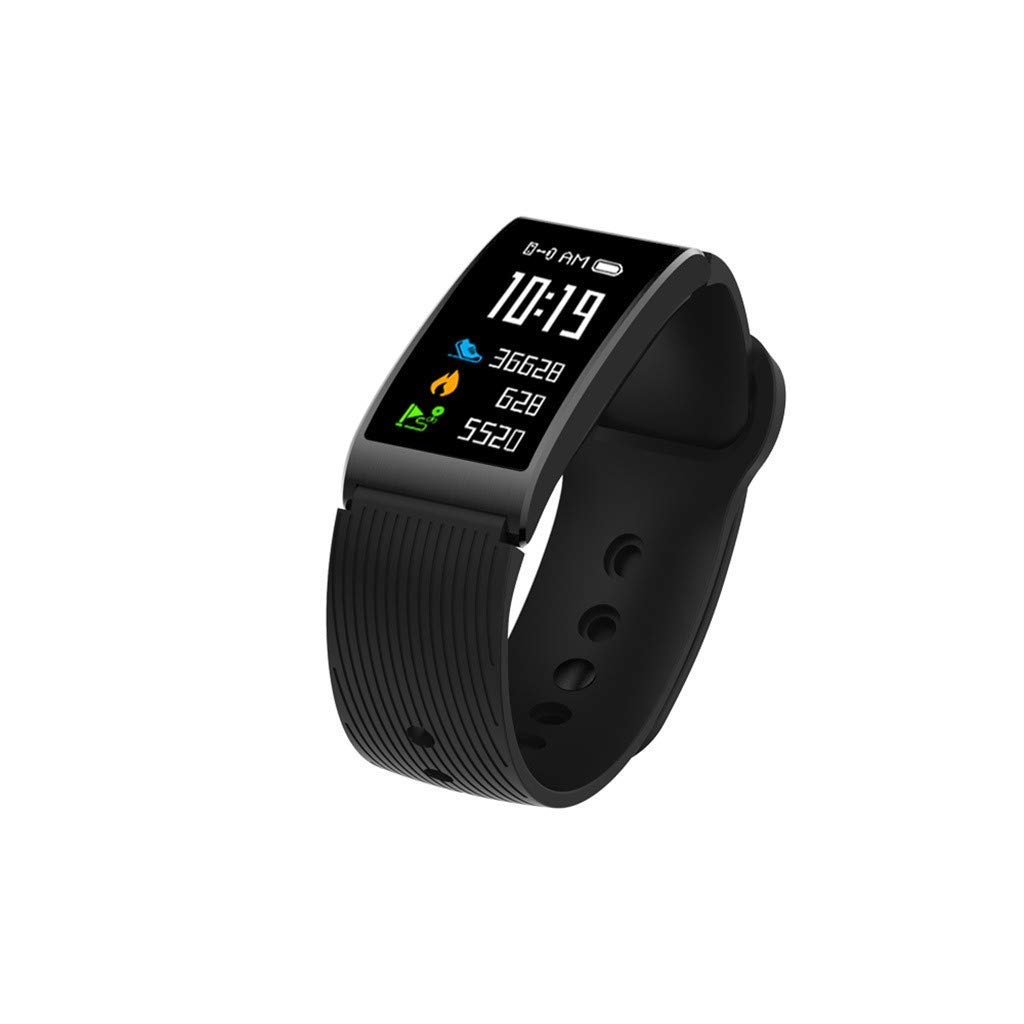 Hot Sale! NDGDA,Sports Fitness Heart Rate Monitor Smart Watch Band Bracelet for iOS/Andorid (Black)