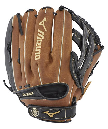 "Mizuno GPSL1200BR Prospect Select Series Pitcher/Outfield Baseball Gloves, 12"", Right Hand Throw"