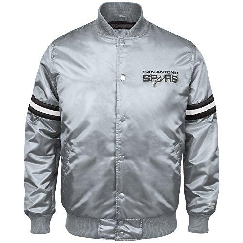 nba-san-antonio-spurs-mens-retro-satin-full-snap-jacket-x-large-silver