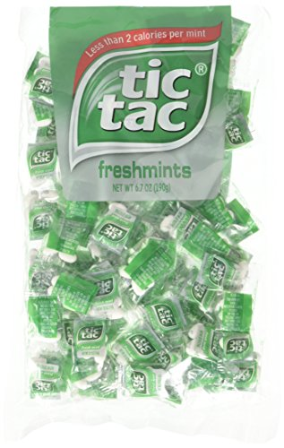 (tic tac Freshmint Pillow Pack, 100Count bag (Pack 2) 200 individually wrapped Pack of 4 mints each )