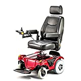 Merits Health Products - Compact FWD/RWD Dualer - Power Chair - 18''W x 16''D - Red