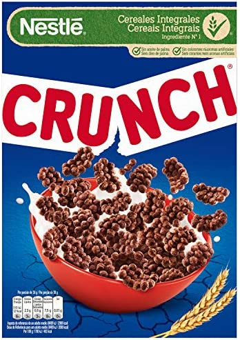 Crunch - Cereales de Chocolate - 375 g: Amazon.es: Alimentación y bebidas