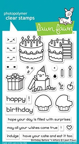 - Lawn Fawn LF1958 Birthday Before 'N Afters 4X6 Clear Stamp Set