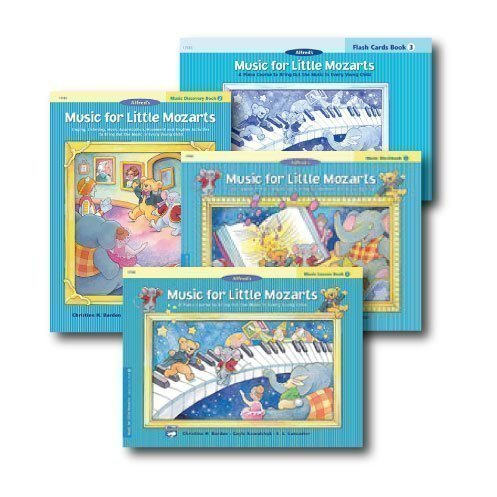 Music for Little Mozarts Level 3 - Piano Curriculem Set - Lesson Book, Discovery Book, Workbook and Flash Cards Included by Alfred Publishing