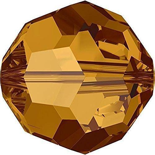 5000 Swarovski Crystal Beads Round Crystal Copper | 4mm - Pack of 720 (Wholesale) | Small & Wholesale (Swarovski Copper Round Beads)