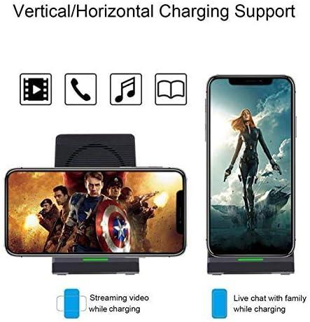 YXZQ Caricabatterie Wireless, Caricabatterie Wireless Verticale da 10 W con Supporto di Ricarica Rapida per Cellulare White