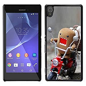 Design for Girls Plastic Cover Case FOR Sony Xperia T3 Funny Domo Rawr OBBA