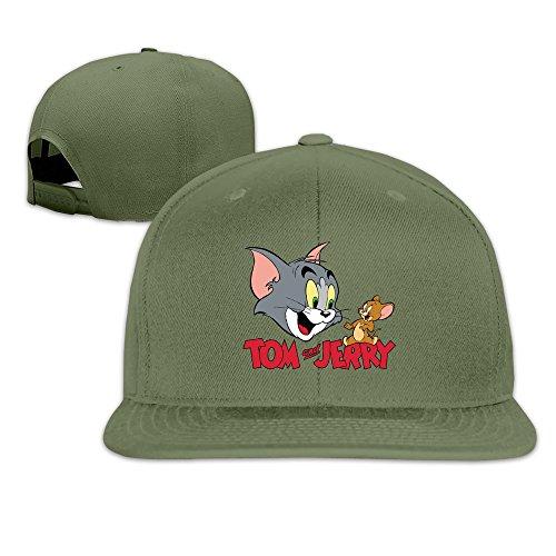 Beetful Tom And Jerry Adjustable Snapback Hip-hop Baseball Cap ForestGreen